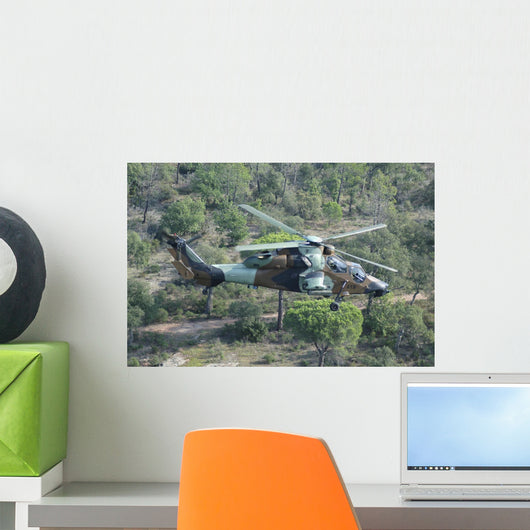 Eurocopter Tigre Attack Helicopter In-Flight Wall Decal
