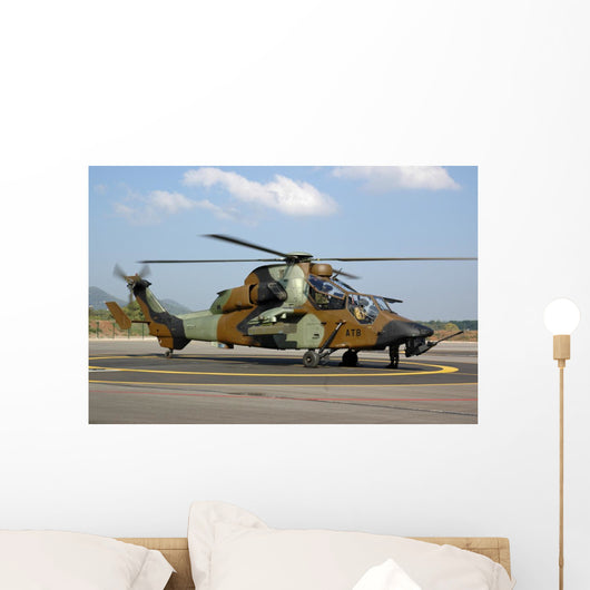 Eurocopter Tigre Attack Helicopter Grounded Wall Decal