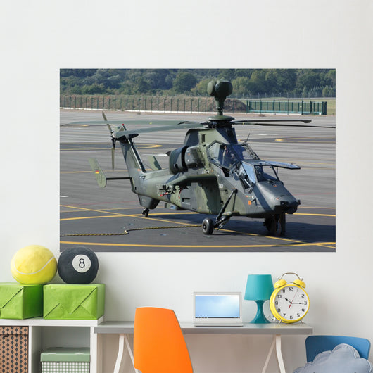 Eurocopter Tiger Attack Helicopter Grounded Wall Decal