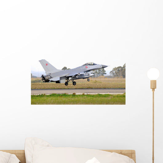 F-16a Mlu Falcon Taking Off Wall Decal