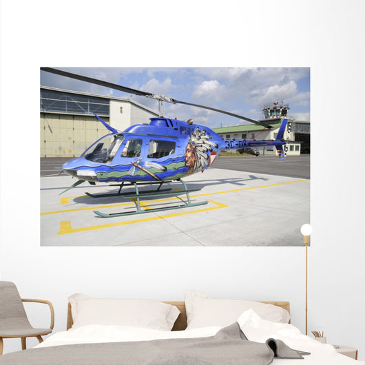 Oh-58 Helicopter Austrian Air Wall Decal