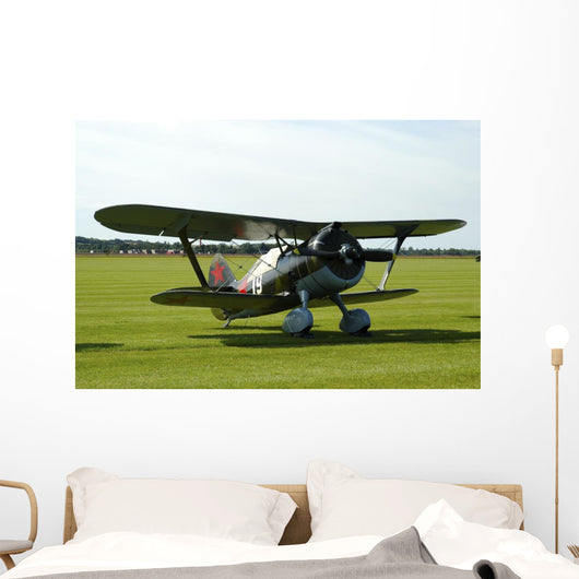 Polikarpov I-15 Soviet Fighter Wall Decal