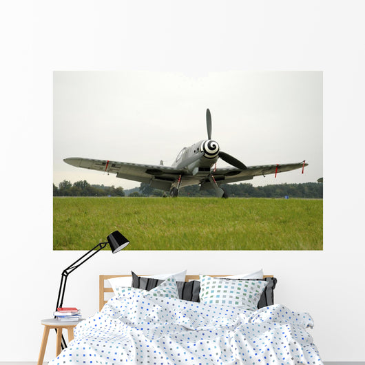Messerschmitt Bf-109g World War Field Wall Decal