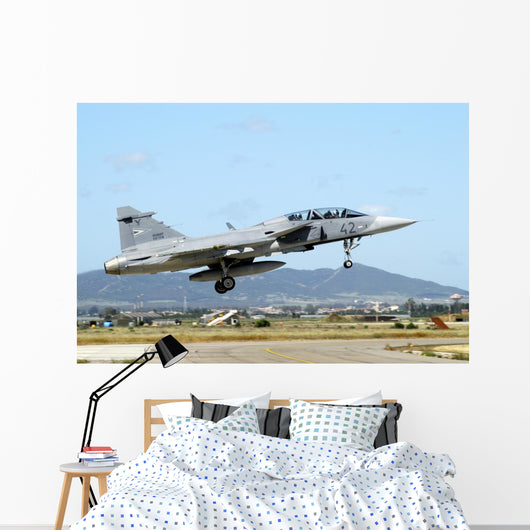 Jas-39d Gripen Hungarian Air Wall Decal