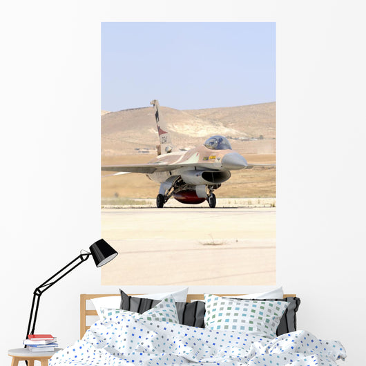 Israeli Air Force F-16a Vertical Wall Decal