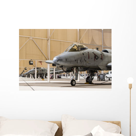 Us Air Force A-10 Hangar Wall Decal