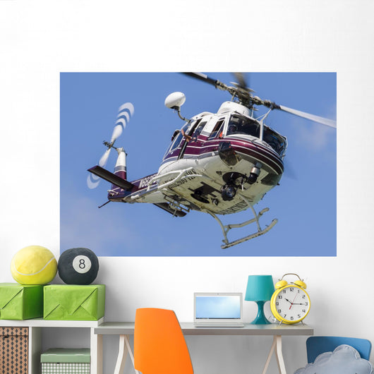 Bell 412 Helicopter Flies Wall Decal