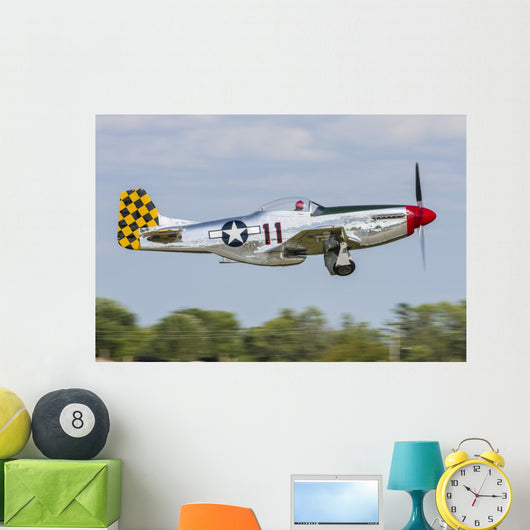 P-51 Mustang In-Flight Wall Decal