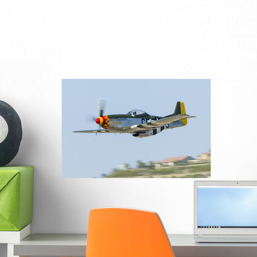 P-51 Mustang Flies San Wall Decal