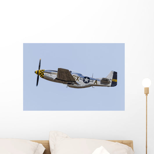 P-51 Mustang Takes off Wall Decal