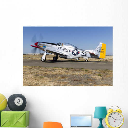P-51 Mustang Taxiing Vacaville Wall Decal