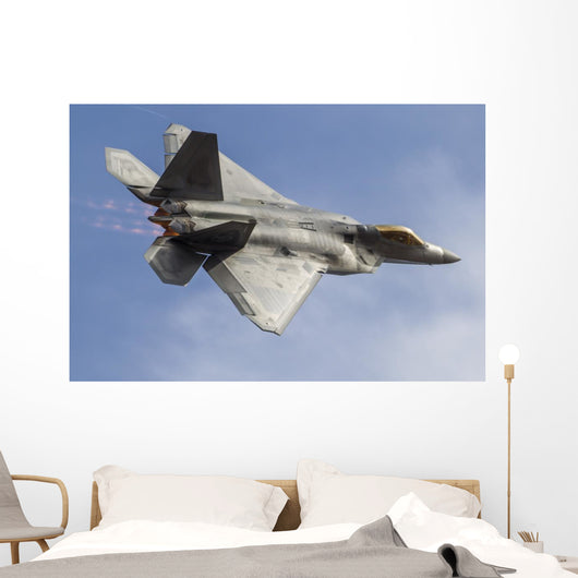 Us Air Force F-22 Top Right Wall Decal