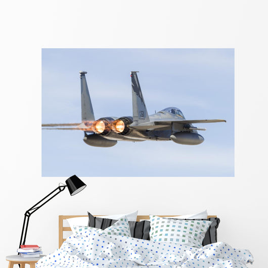 Us Air Force F-15c Back Right Wall Decal