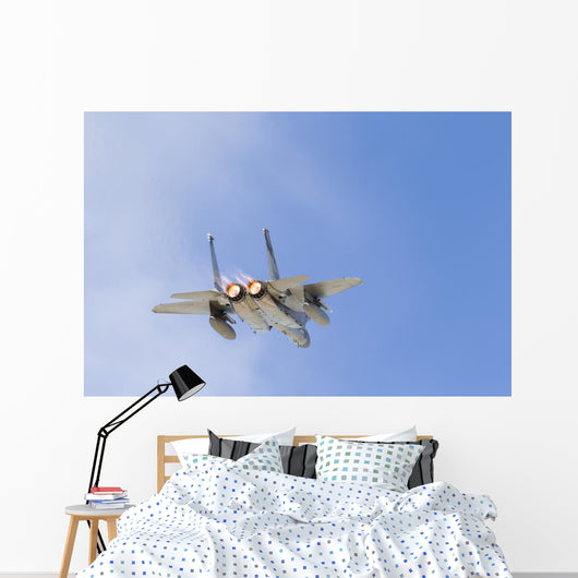 Us Air Force F-15c Flying Away Wall Decal