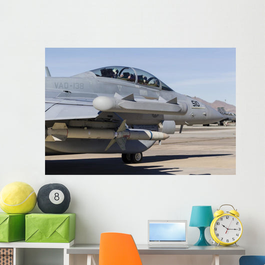 Us Navy E A-18g  Grounded Right Wall Decal