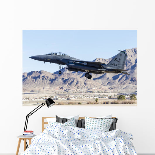 Us Air Force F-15e Mountains Wall Decal