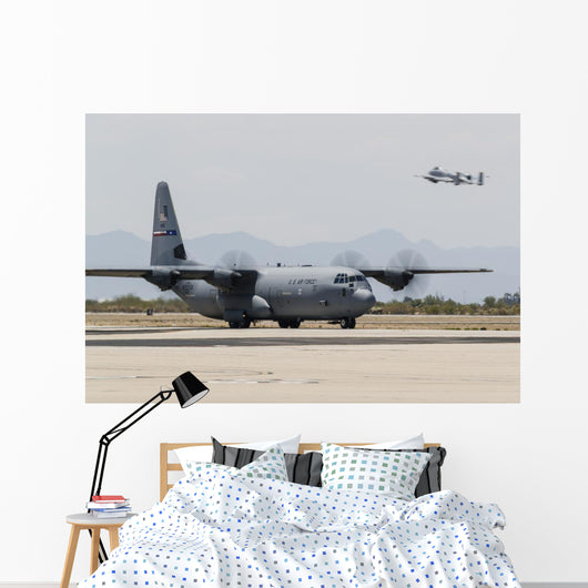 C-130j Hercules Taxies after Wall Decal