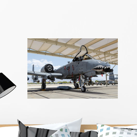 Us Air Force A-10 Grounded Right Profile Wall Decal