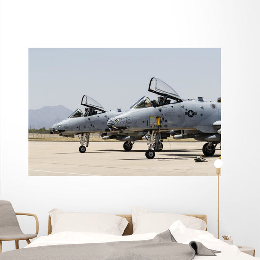Us Air Force A-10 Pair Wall Decal