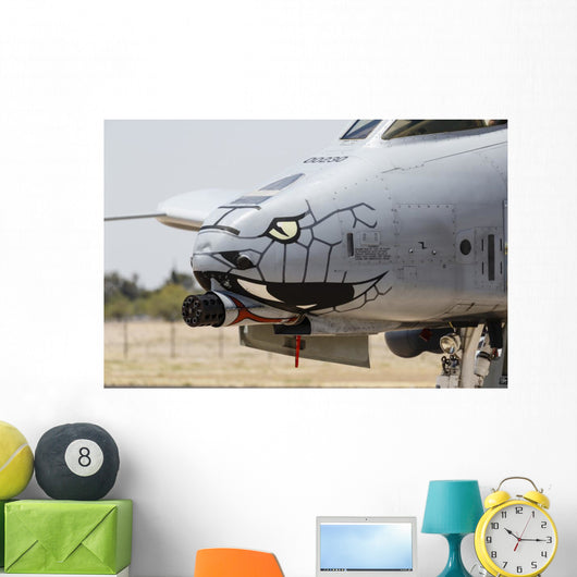 Close-up Gau-8 Avenger Gun Profile Wall Decal