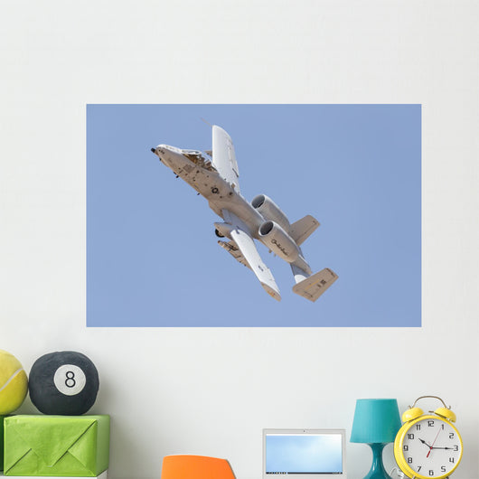Us Air Force A-10 Banking Left Wall Decal