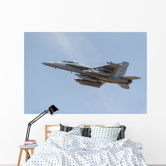 Us Navy E A-18g Up Left Wall Decal