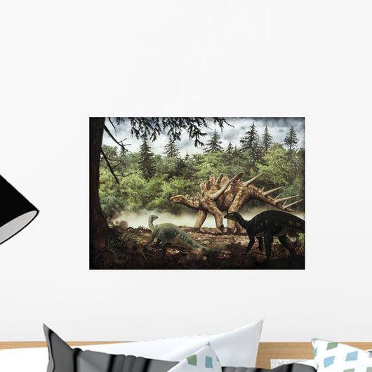 Mutualistic Relationship between Dacentrurus Wall Decal