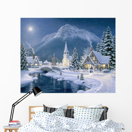 Christmas Village Wall Mural