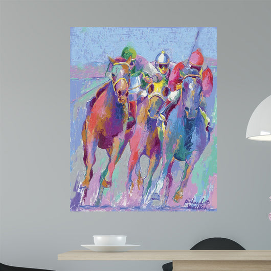 Pastel Horse Race Wall Mural