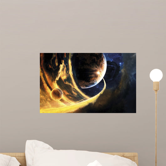Abstract Science Fiction Scene Wall Decal