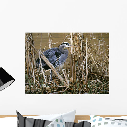 Early Spring - Great Blue Heron Wall Mural