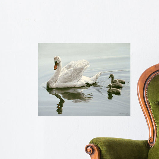 Mute Swan and Three Wall Decal
