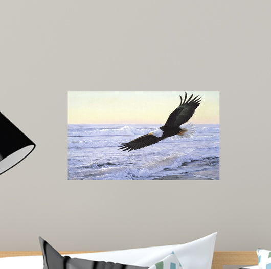 Ocean Dawn Eagle Wall Mural