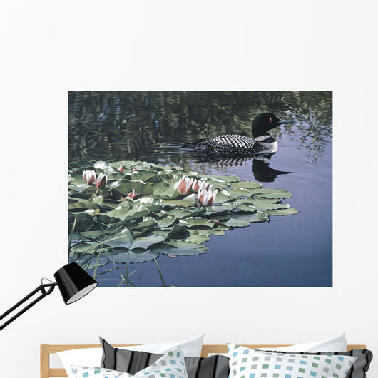 Loon And Lilies Wall Mural