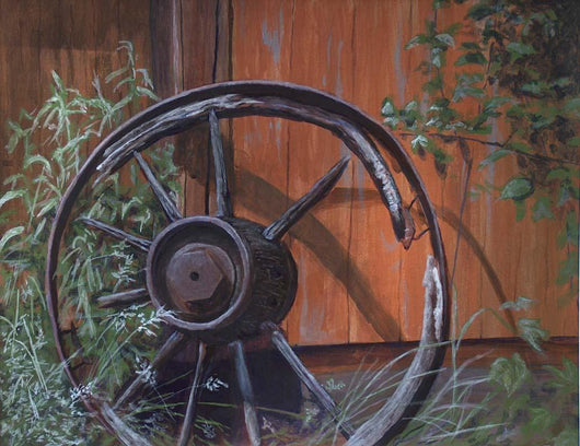 Wagon Wheel Wall Mural