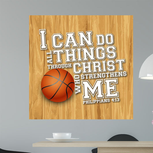 I CAN DO ALL SPORTS Basketball Wall Mural