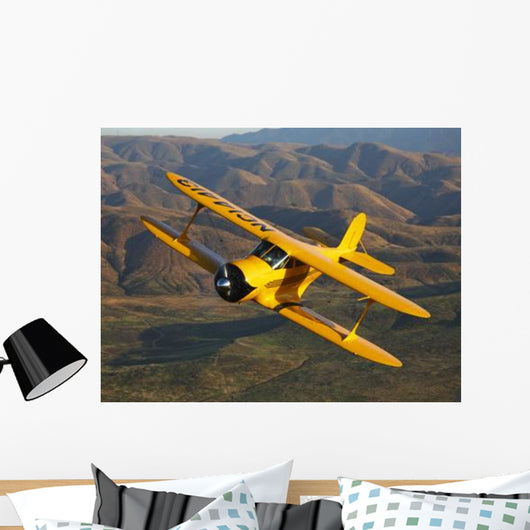 Beechcraft D-17 Staggerwing Flight Wall Decal