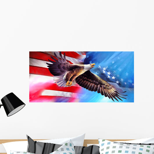 American Eagle Flag Wall Mural