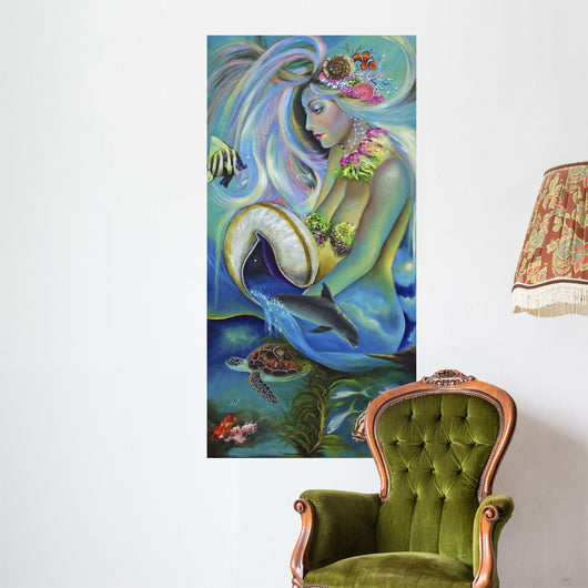 Fergierina the Mermaid Wall Mural
