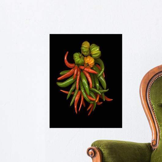 Hot Peppers #3 Wall Mural