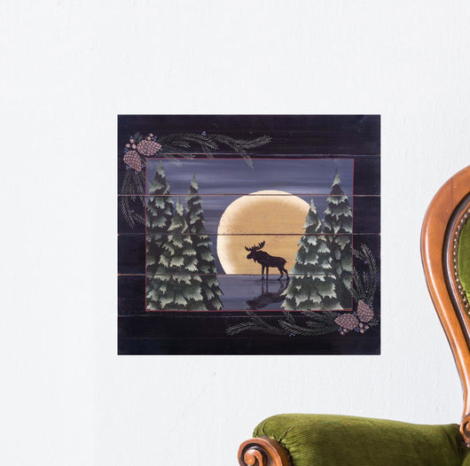 Moonlight Moose Wall Mural
