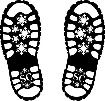 Santa Footprint Floor Decal | 12