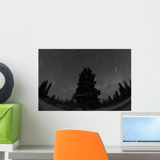 Star Trails and Milky Wall Decal Design 1