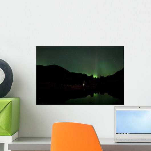 Green Aurora above Kincolith Wall Decal Design 2