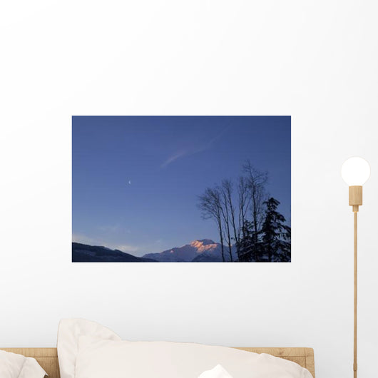 Moon and Alpenglow Wall Decal Design 2