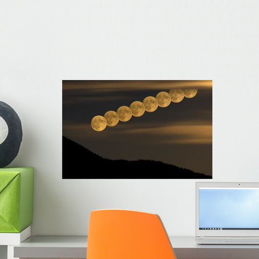 Full Moonrise Wall Decal