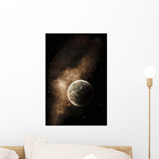 Planet Full Massive Mountain Wall Decal