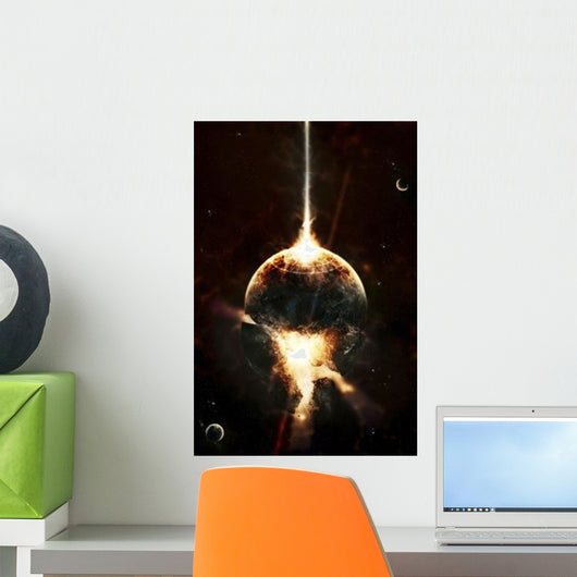 Concentrated Gamma Ray Strikes Wall Decal
