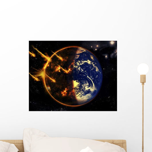 Swarm Deadly Meteorites Impact Wall Decal