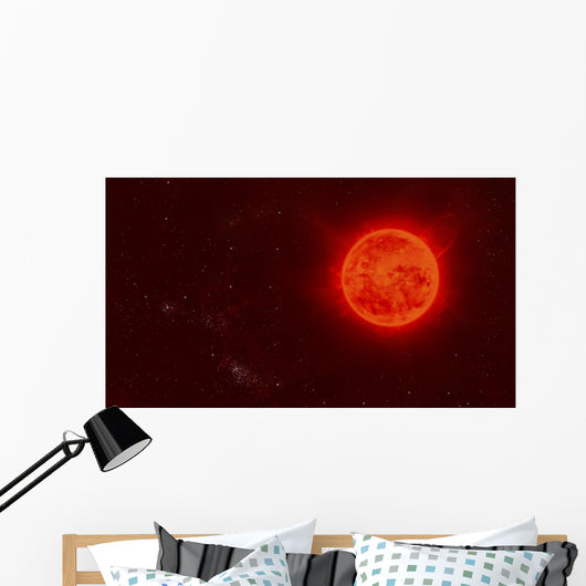 Red Dwarf Sun Floating Wall Decal